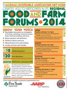 ASAN 2014 Food & Farm Forum flyer for web